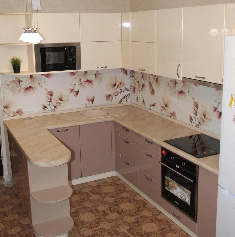 Встроенная кухня-Кухня МДФ в ПВХ «Модель 141»-фото1