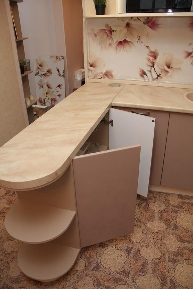 Встроенная кухня-Кухня МДФ в ПВХ «Модель 141»-фото2