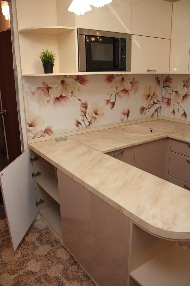 Встроенная кухня-Кухня МДФ в ПВХ «Модель 141»-фото3
