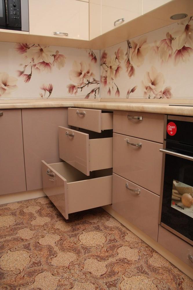 Встроенная кухня-Кухня МДФ в ПВХ «Модель 141»-фото7