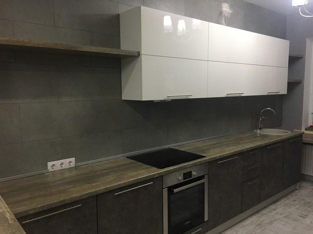 Акриловые кухни-Кухня МДФ в эмали «Модель 159»-фото2