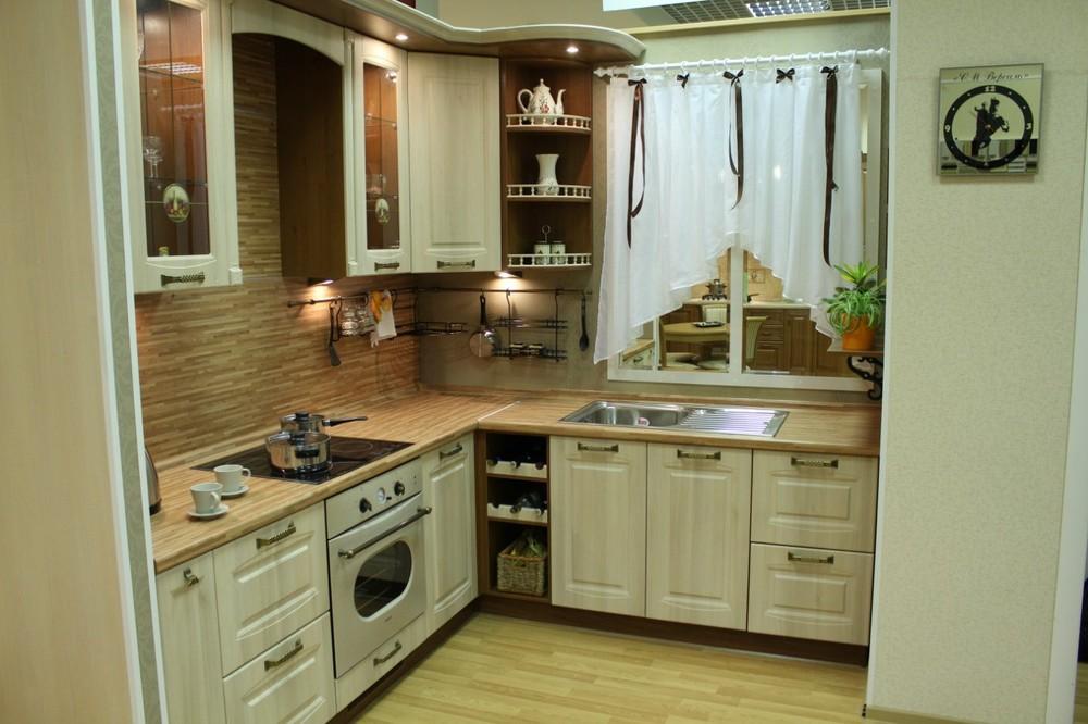 Белый кухонный гарнитур-Кухня МДФ в ПВХ «Модель 128»-фото2