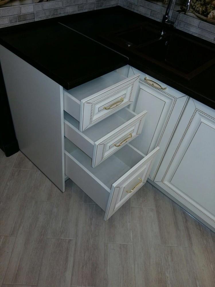 Белый кухонный гарнитур-Кухня МДФ в ПВХ «Модель 146»-фото6