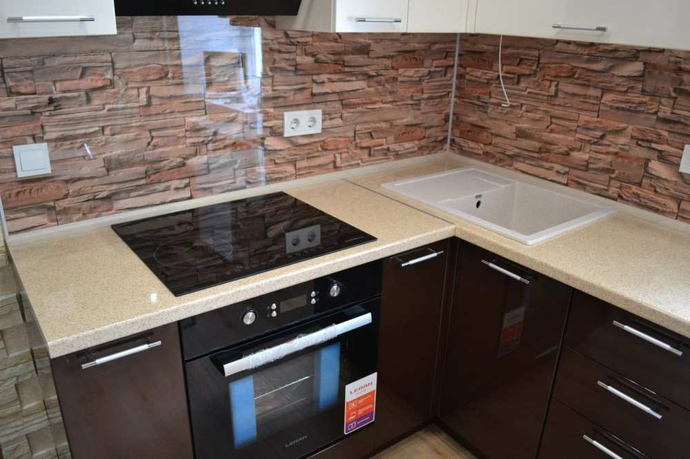 Белый кухонный гарнитур-Кухня МДФ в ПВХ «Модель 177»-фото3