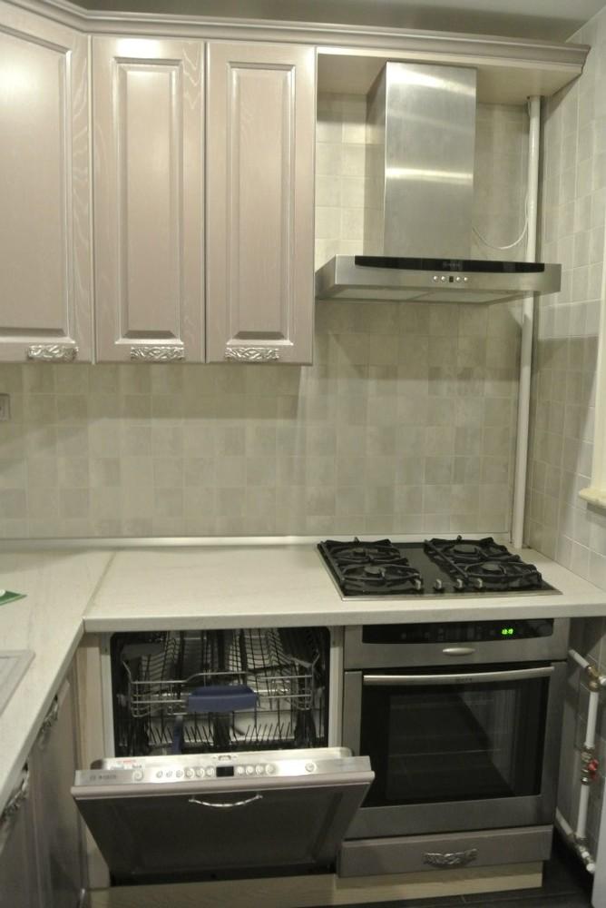 Встроенная кухня-Кухня МДФ в ПВХ «Модель 156»-фото2