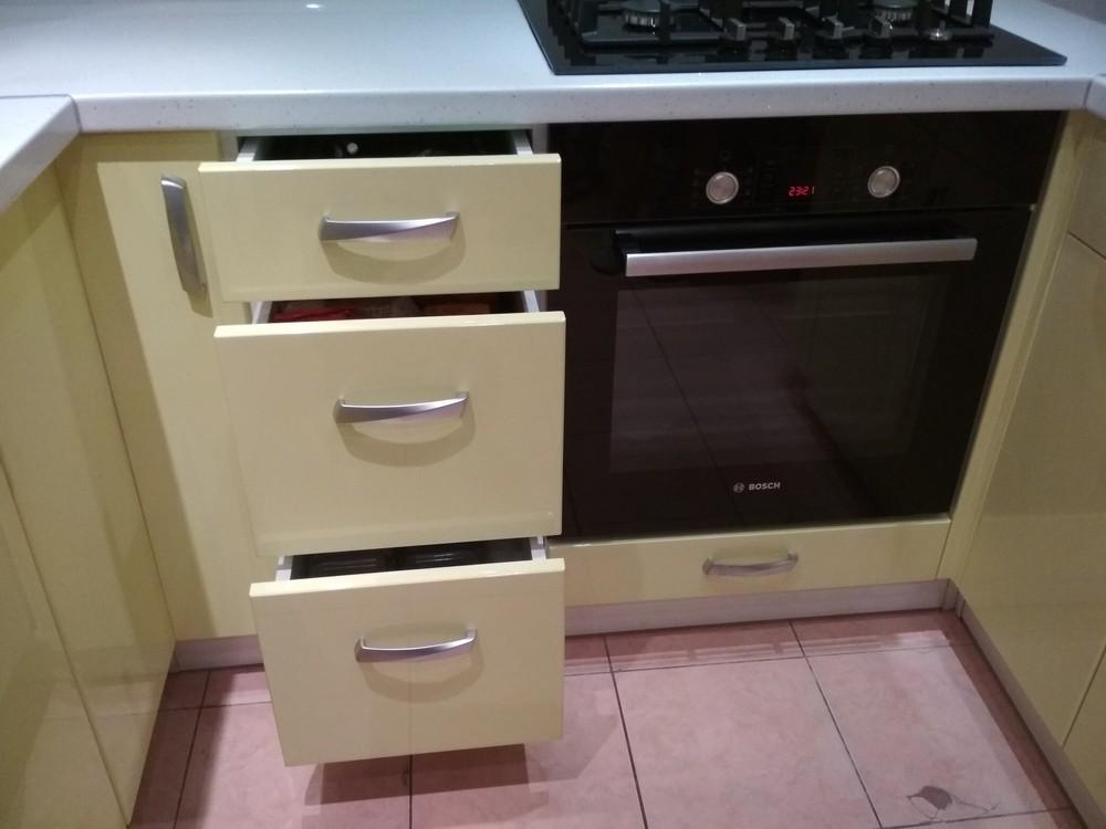 Встроенная кухня-Кухня МДФ в ПВХ «Модель 184»-фото5