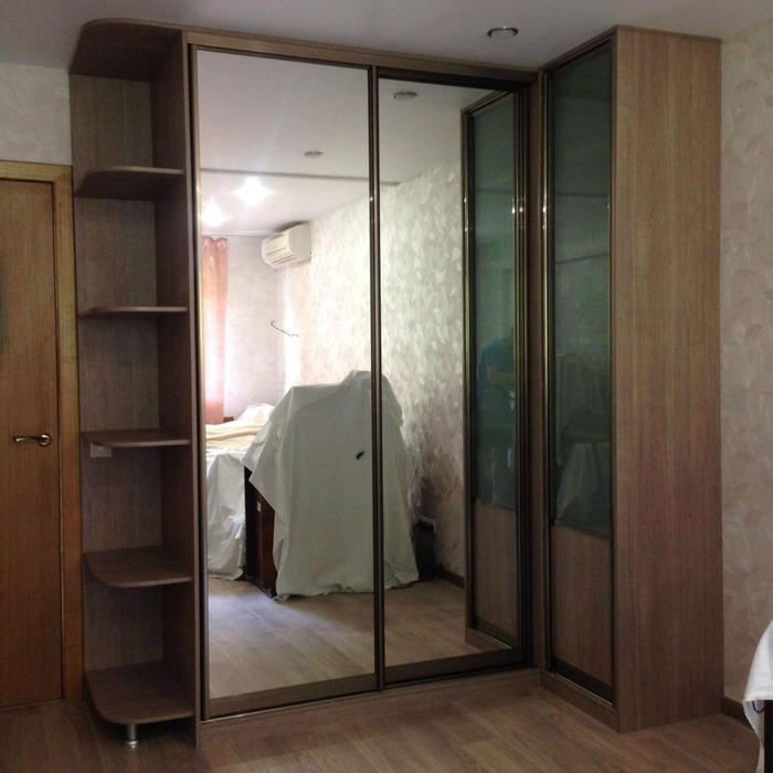 Большой шкаф-купе-Шкаф-купе с зеркалом «Модель 219»-фото1