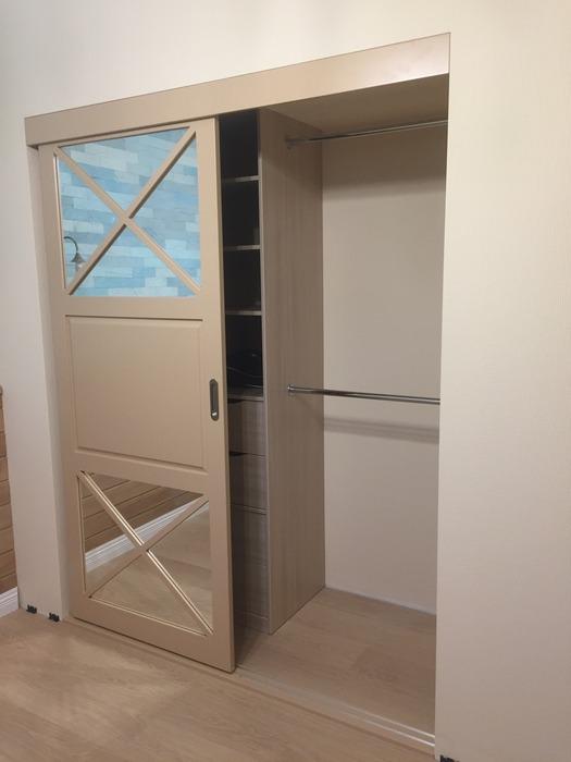 Встроенные шкафы-купе-Шкаф-купе с зеркалом «Модель 158»-фото2