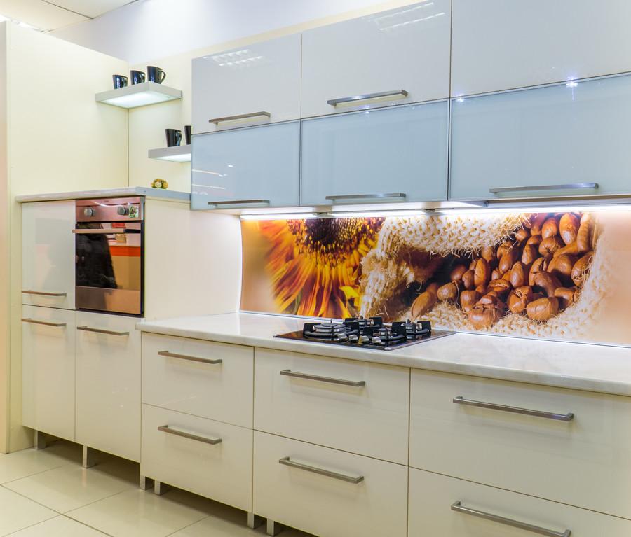 Белый кухонный гарнитур-Кухня МДФ в пластике «Модель 56»-фото1