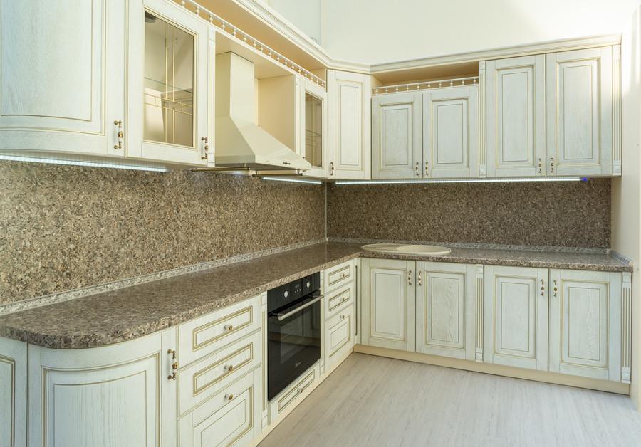 Бежевые кухни-Кухня МДФ в пластике «Модель 50»-фото1