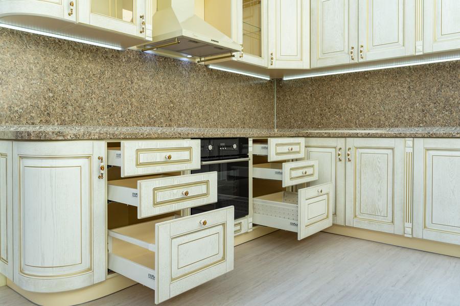 Бежевые кухни-Кухня МДФ в пластике «Модель 50»-фото5