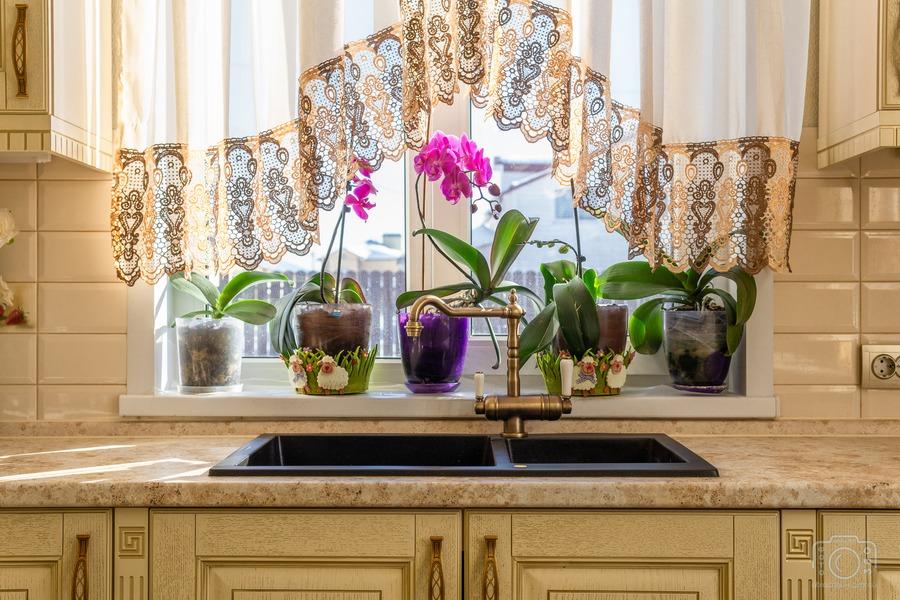Белый кухонный гарнитур-Кухня из шпона «Модель 3»-фото8