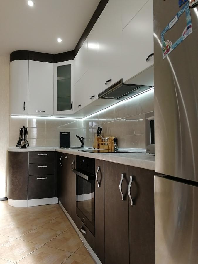 Комбинированные кухни-Кухня МДФ в ПВХ «Модель 27»-фото2