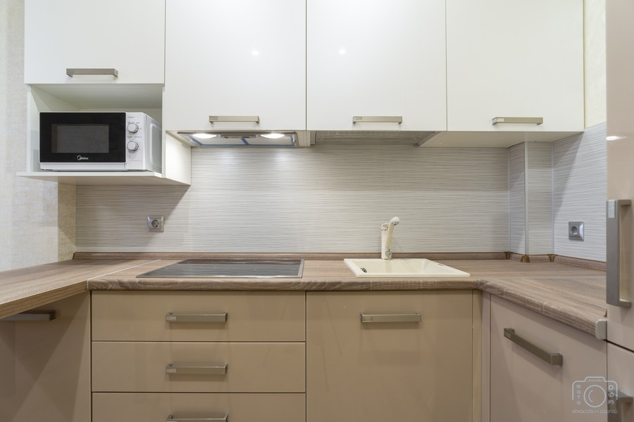 Белый кухонный гарнитур-Кухня из пластика «Модель 1»-фото6