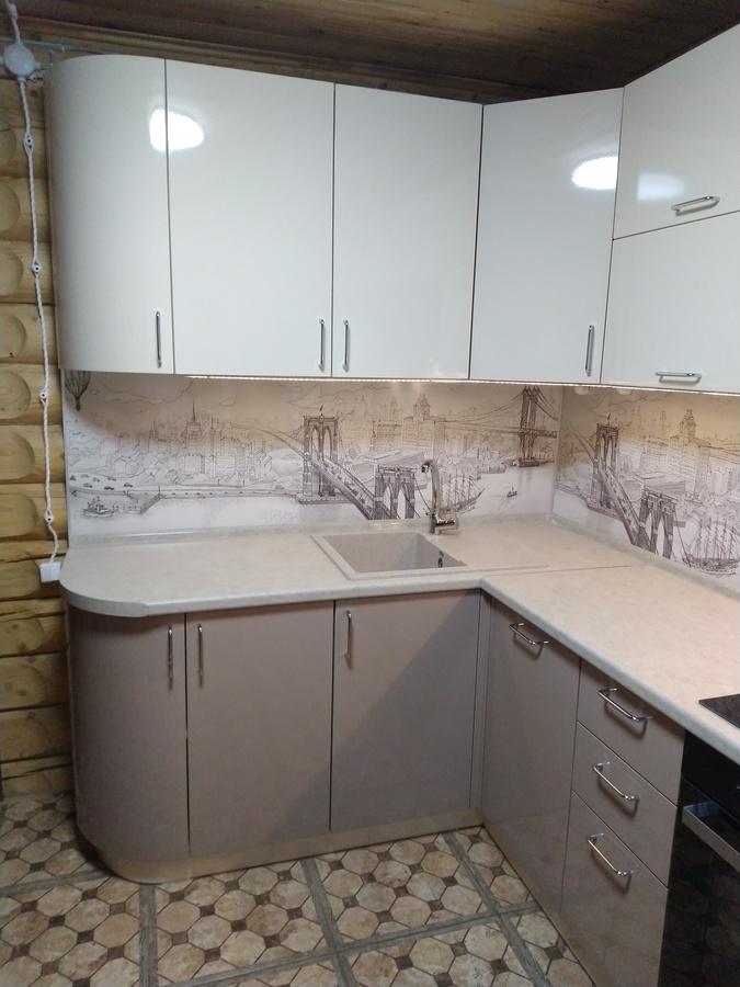Белый кухонный гарнитур-Кухня МДФ в ПВХ «Модель 38»-фото3