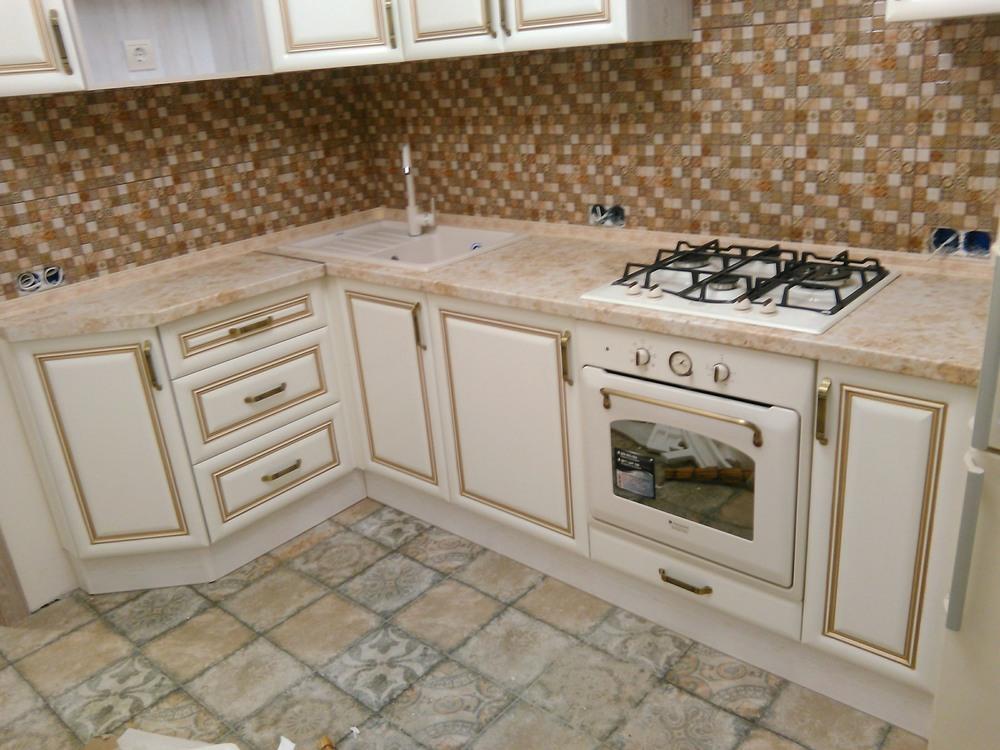 Белый кухонный гарнитур-Кухня МДФ в ПВХ «Модель 340»-фото2