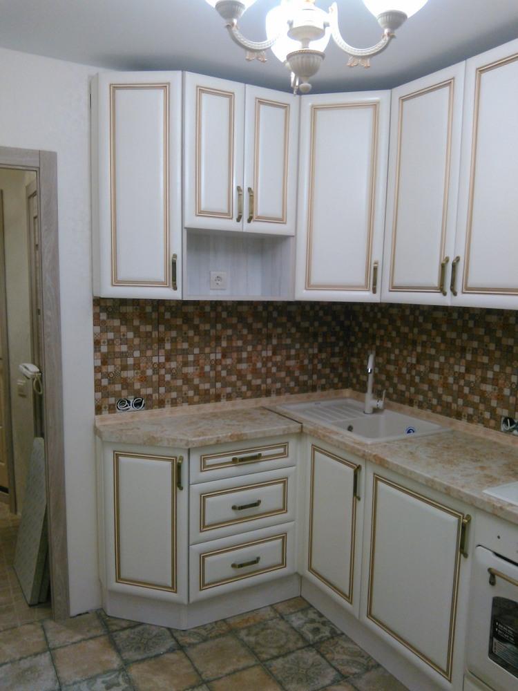 Белый кухонный гарнитур-Кухня МДФ в ПВХ «Модель 340»-фото14