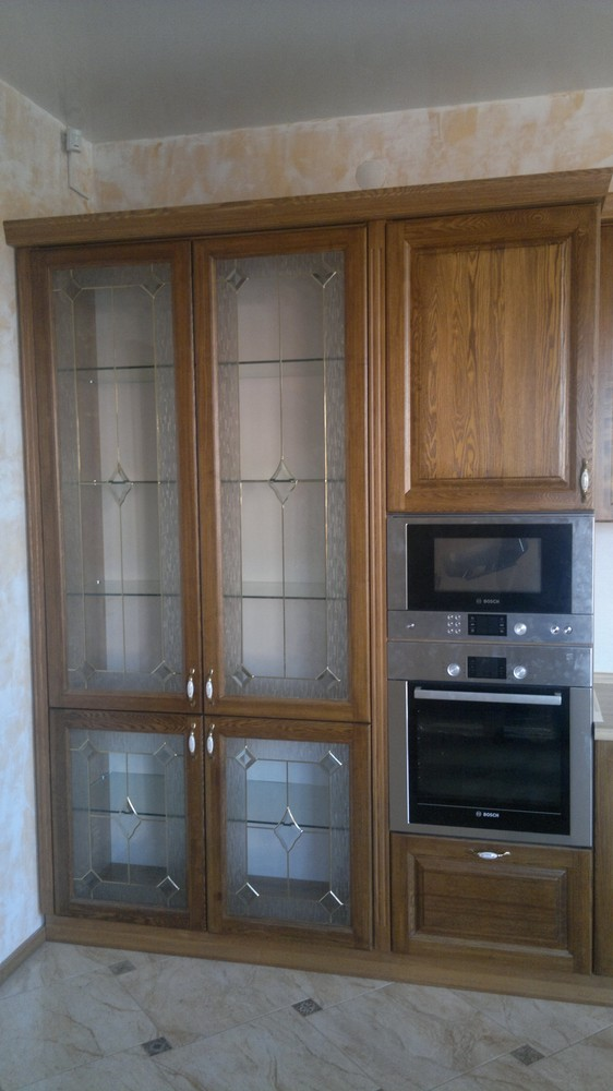 Встроенная кухня-Кухня из шпона «Модель 333»-фото3
