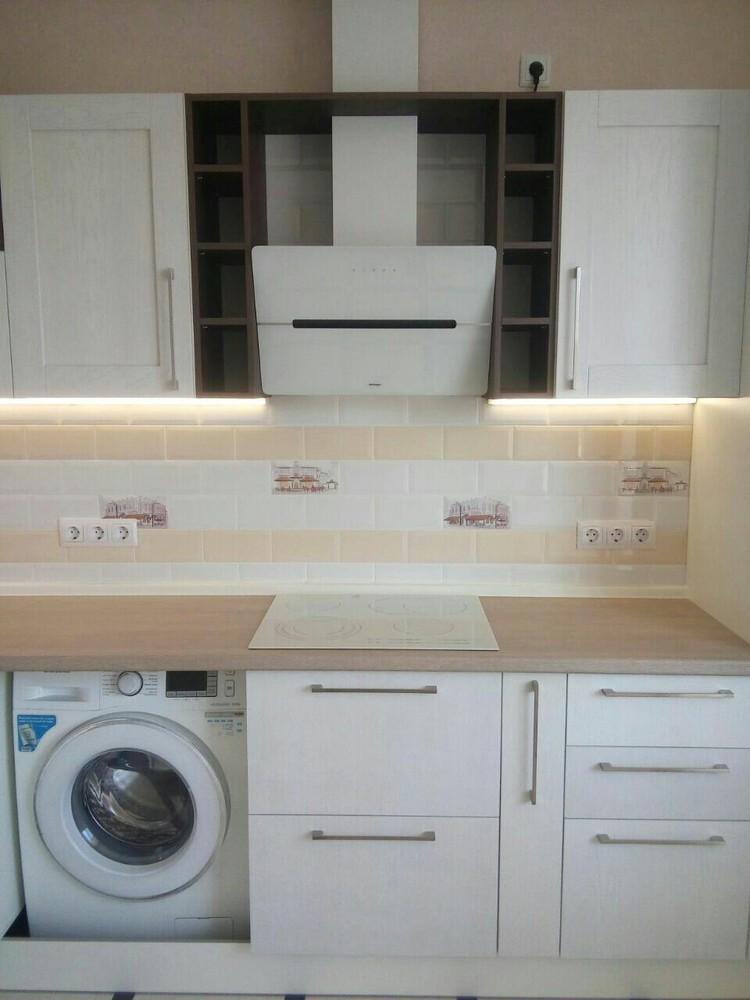 Белый кухонный гарнитур-Кухня МДФ в ПВХ «Модель 342»-фото2