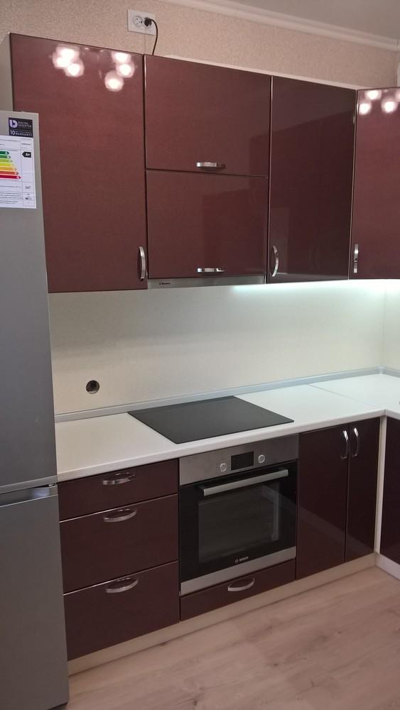 Белый кухонный гарнитур-Кухня МДФ в ПВХ «Модель 366»-фото3
