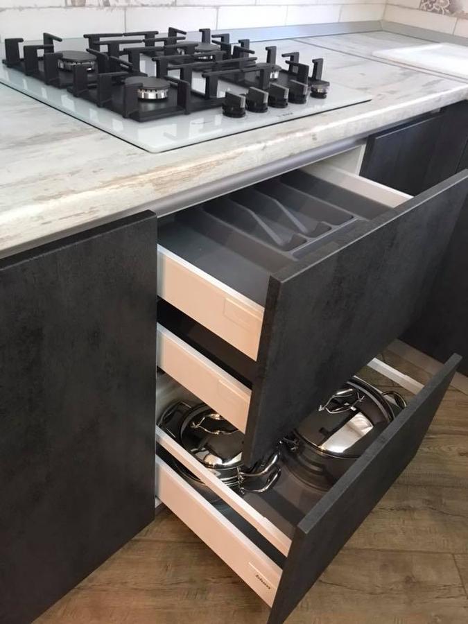Встроенная кухня-Кухня МДФ в ПВХ «Модель 114»-фото6