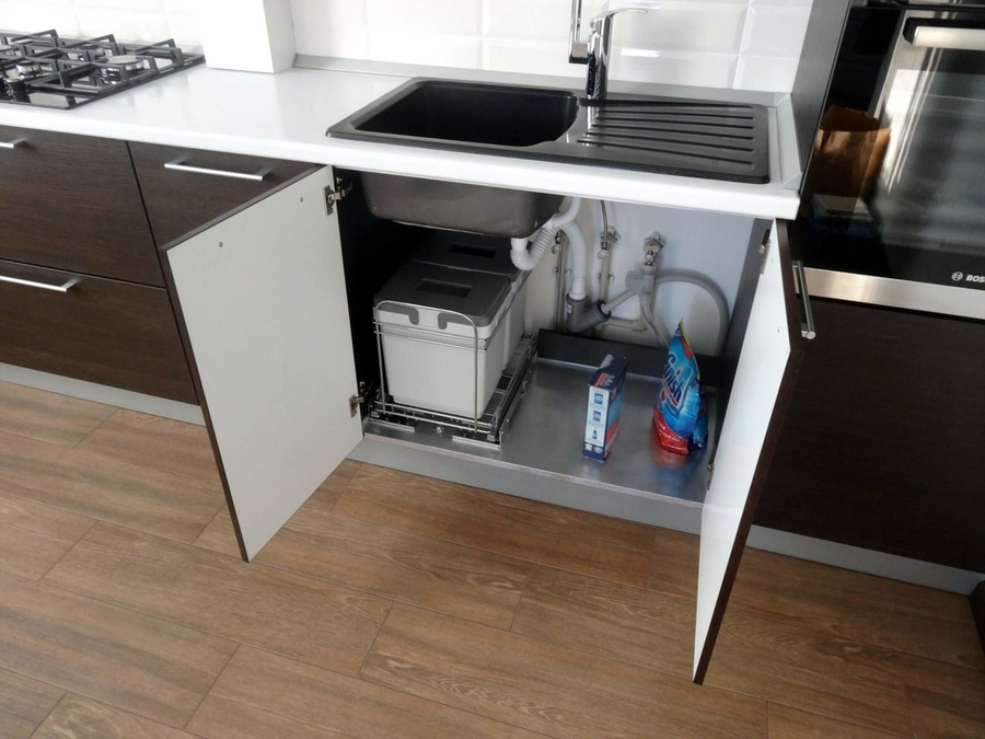 Встроенная кухня-Кухня из пластика «Модель 188»-фото8