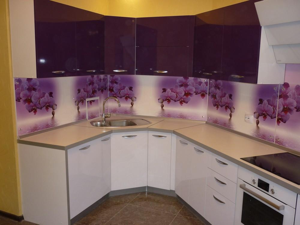 Акриловые кухни-Кухня из пластика «Модель 207»-фото1