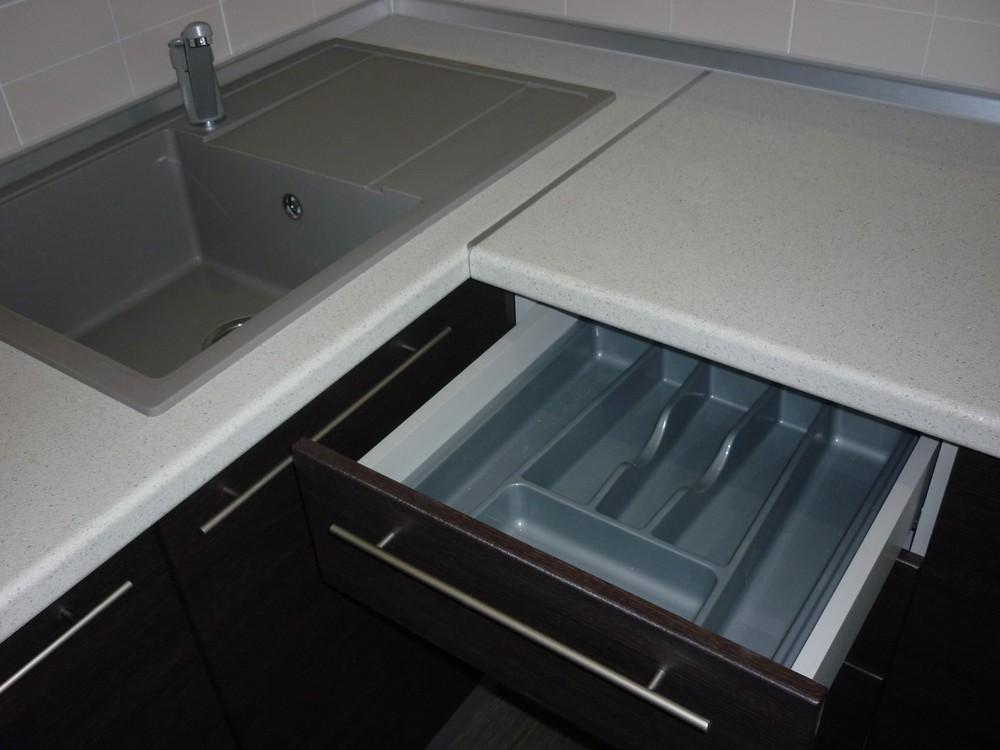 Встроенная кухня-Кухня МДФ в ПВХ «Модель 206»-фото4