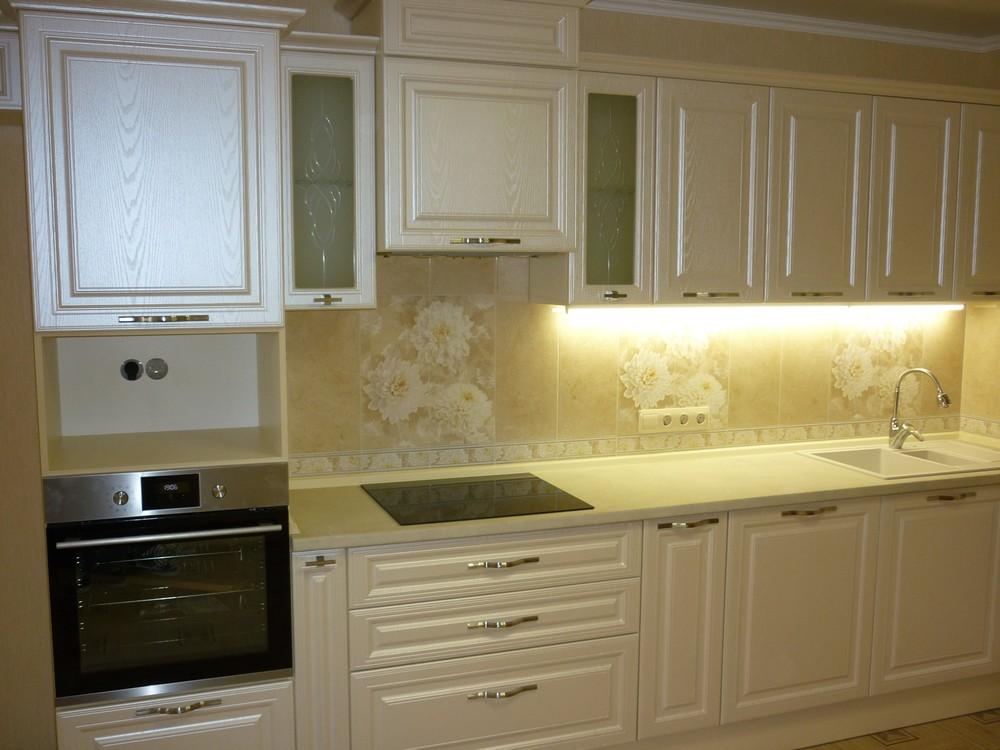 Встроенная кухня-Кухня МДФ в ПВХ «Модель 229»-фото1