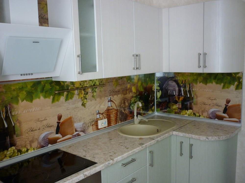 Белый кухонный гарнитур-Кухня МДФ в ПВХ «Модель 216»-фото2