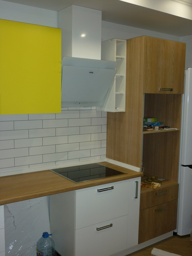 Акриловые кухни-Кухня из пластика «Модель 225»-фото2