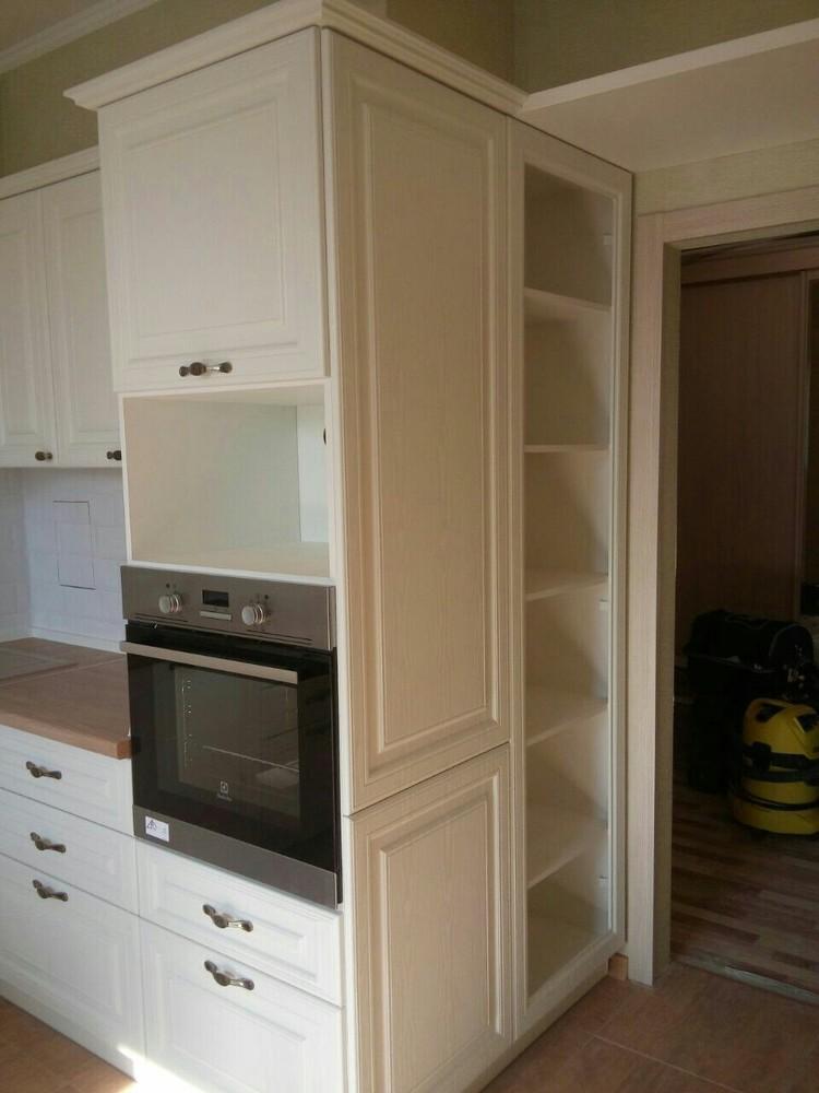 Белый кухонный гарнитур-Кухня МДФ в ПВХ «Модель 226»-фото3