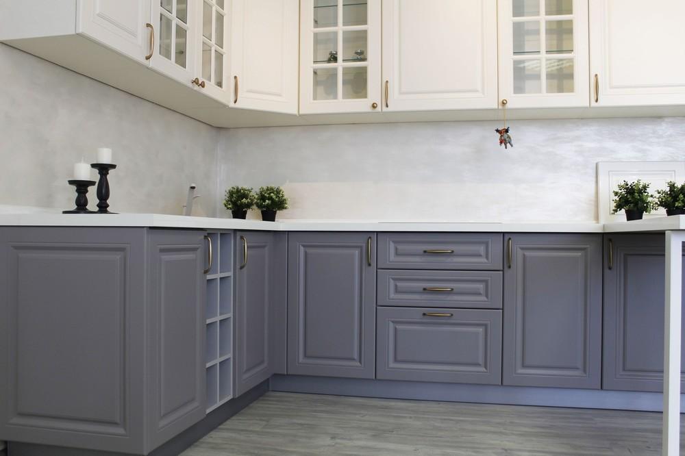 Встроенная кухня-Кухня МДФ в ПВХ «Модель 282»-фото2