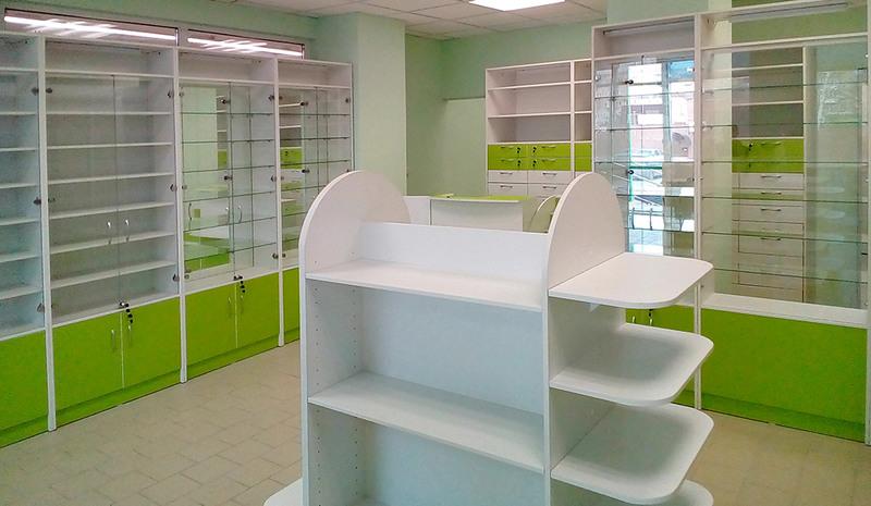 Торговая мебель-Мебель для аптеки «Модель 186»-фото1