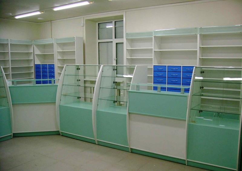 Торговая мебель-Мебель для аптеки «Модель 194»-фото2