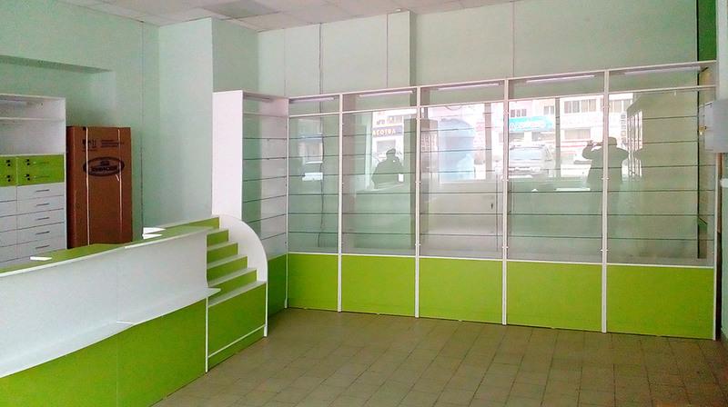 Торговая мебель-Мебель для аптеки «Модель 186»-фото2