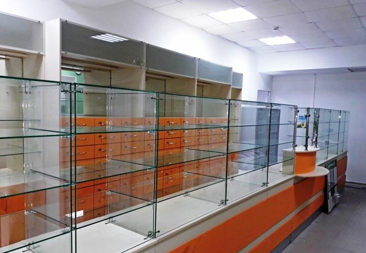 Торговая мебель-Мебель для аптеки «Модель 191»-фото1