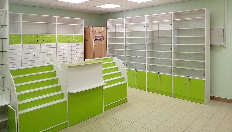 Торговая мебель-Мебель для аптеки «Модель 186»-фото3
