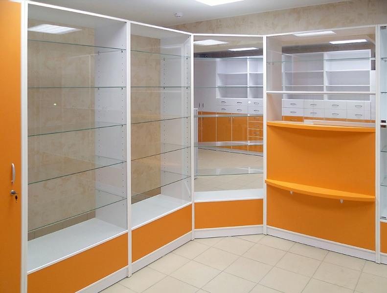 Торговая мебель-Мебель для аптеки «Модель 195»-фото1
