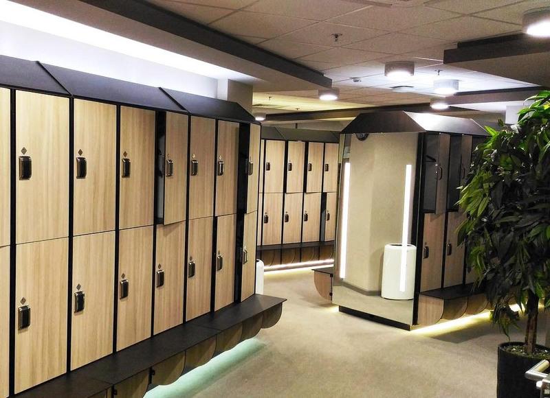 Торговая мебель-Шкафчики для раздевалки «Модель 161»-фото1