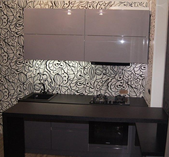 Глянцевые кухни-Кухня МДФ в эмали «Модель 285»-фото2