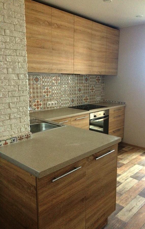 Встроенная кухня-Кухня из ЛДСП «Модель 389»-фото2