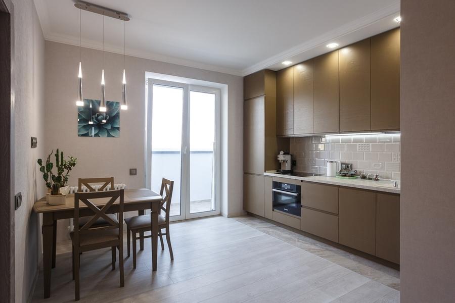 Встроенная кухня-Кухня из ЛДСП «Модель 425»-фото1