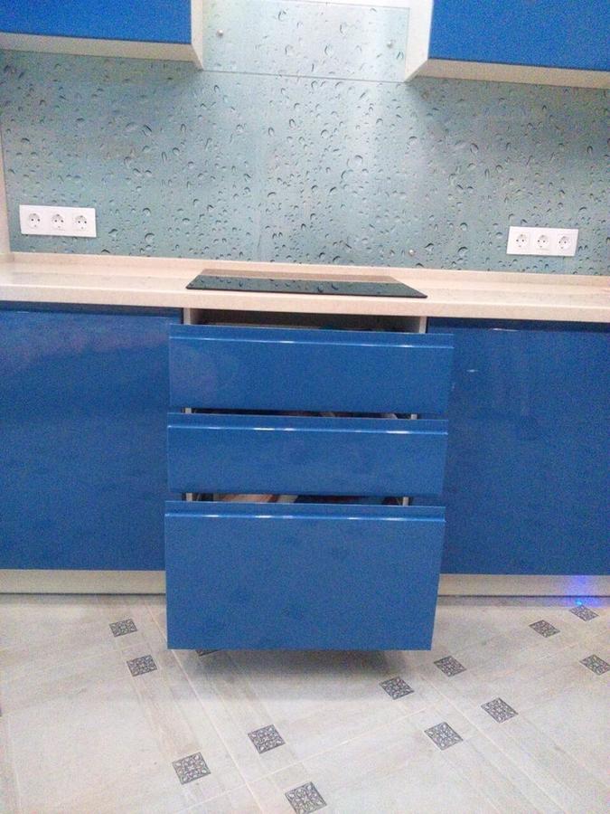 Глянцевые кухни-Кухня МДФ в эмали «Модель 428»-фото6