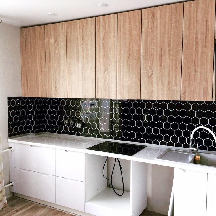 Белый кухонный гарнитур-Кухня МДФ в эмали «Модель 421»-фото1