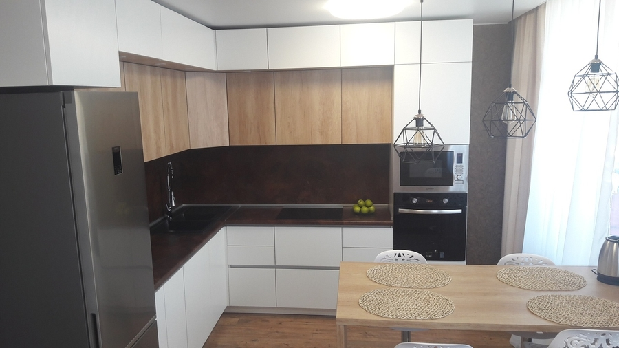 Белый кухонный гарнитур-Кухня из ЛДСП «Модель 176»-фото1