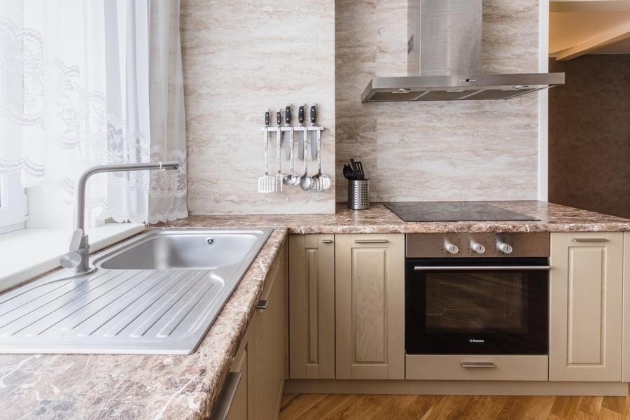 Бежевые кухни-Кухня из массива дуба «Модель 403»-фото4