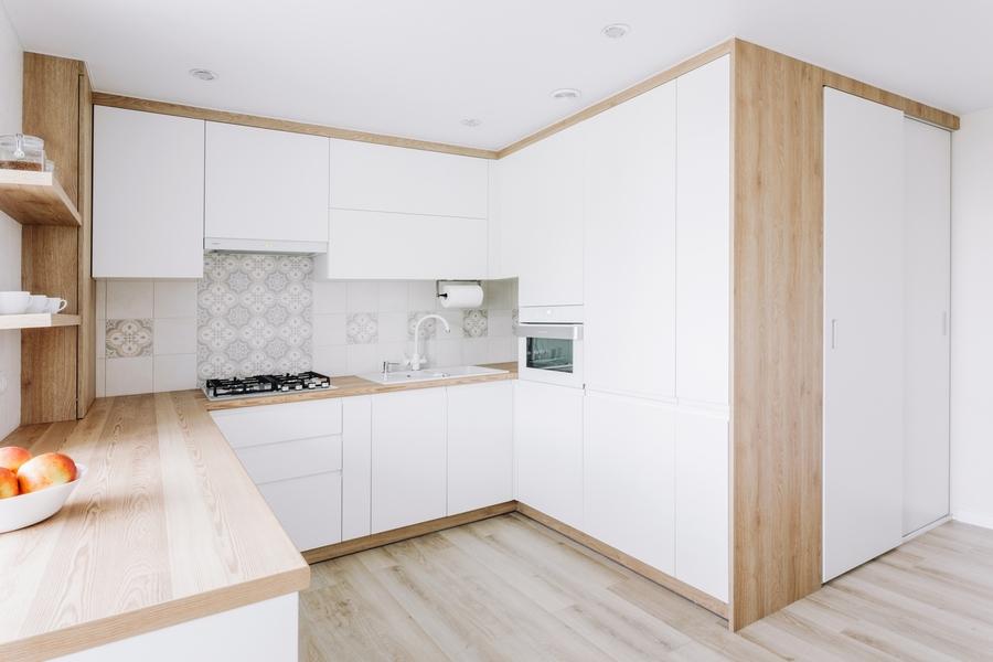 Белый кухонный гарнитур-Кухня МДФ в эмали «Модель 404»-фото2