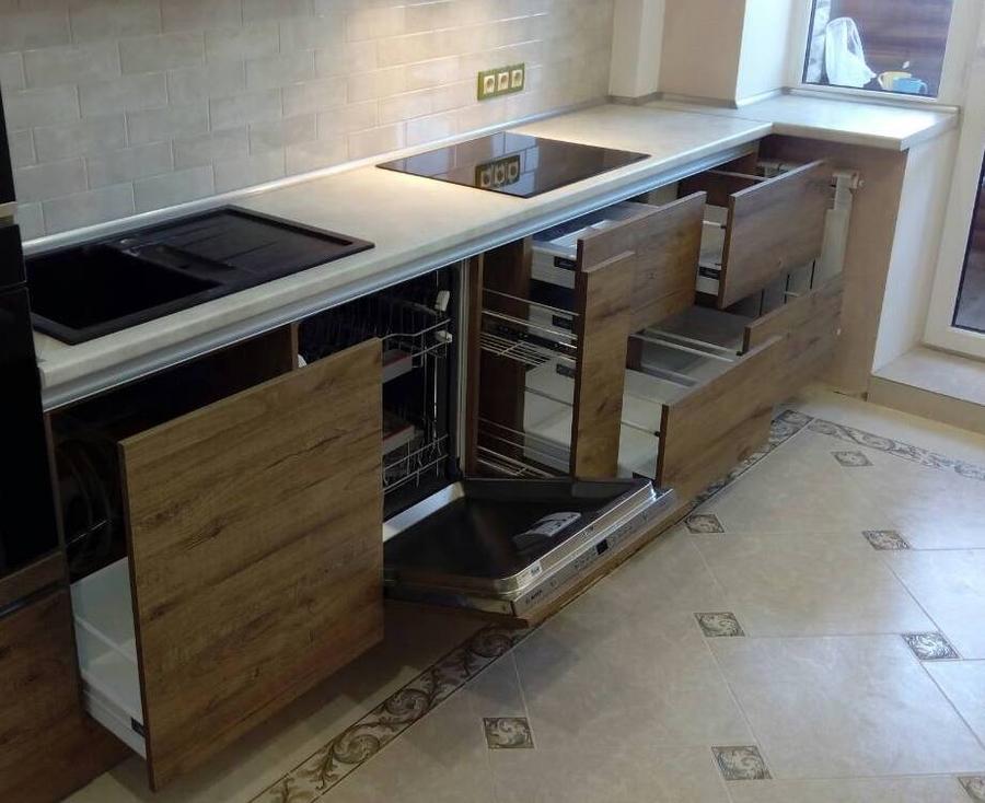 Встроенная кухня-Кухня из пластика «Модель 379»-фото6