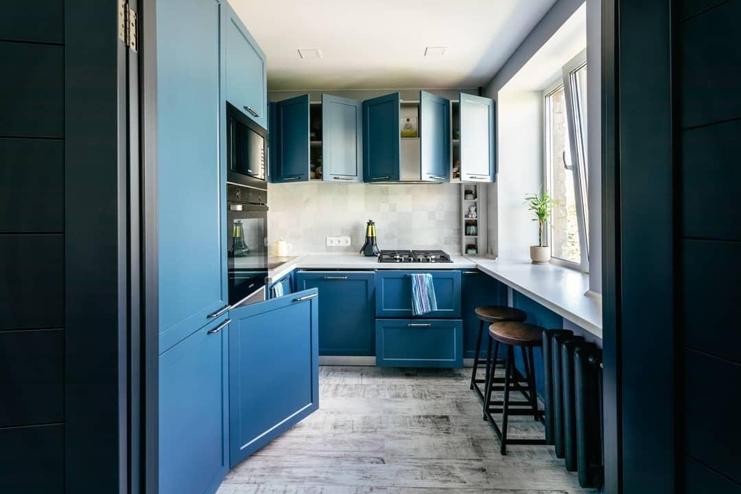 Встроенная кухня-Кухня МДФ в эмали «Модель 612»-фото5